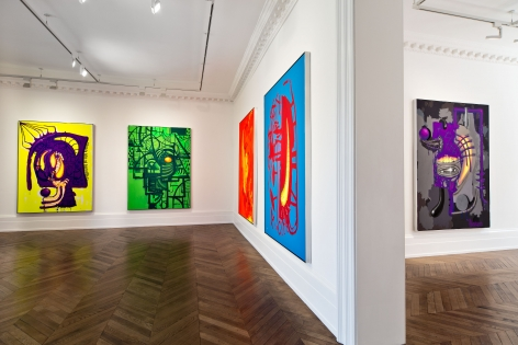 Aaron Curry, Paintings, London, 2014, Installation Image 5