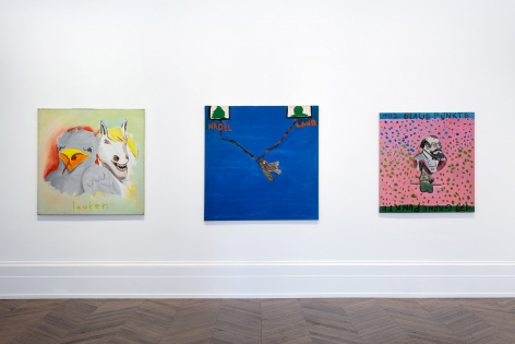 JÖRG IMMENDORFF LIDL Works and Performances from the 60s and Late Paintings after Hogarth 12 May through 2 July 2016 MAYFAIR, LONDON, Installation View 8
