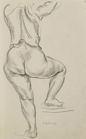 """""""Woman from Behind (Leg Raised)"""", ca. 1930-1949"""