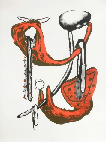 """Untitled"", 2009 Unique silkscreen on paper"