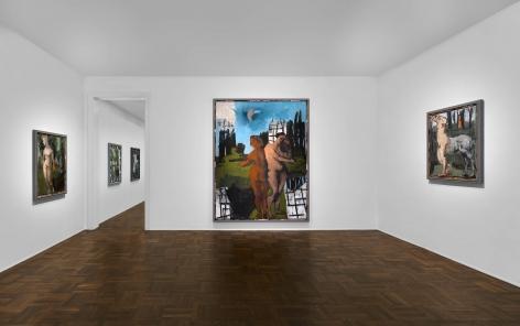 Markus Lüpertz, New Paintings, New York, 2017, Installation Image 2
