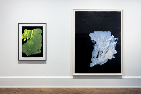 Sigmar Polke, Pour Paintings on Paper, London, 2017, Installation Image 2