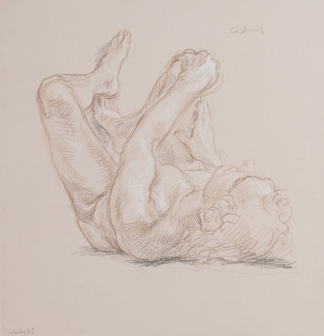 """Reclining Male Nude"", 1985"