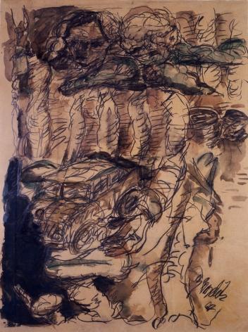 """Untitled"", 1967 Pencil, gouache on paper"