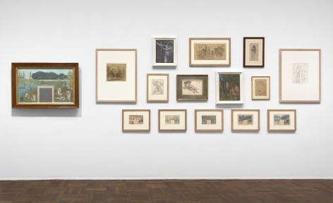 PIERRE PUVIS DE CHAVANNES, Works on Paper and Paintings, New York, 2018, Installation Image 3