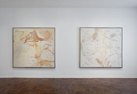 Sigmar Polke, Silver Paintings, New York, 2015, Installation Image 3