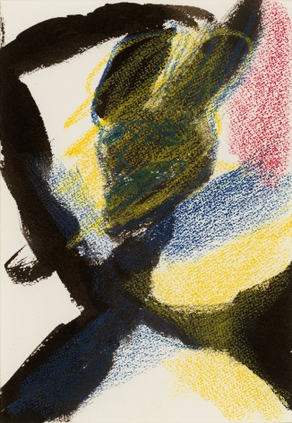 """""""Untitled"""", 1985 India ink, crayon on paper"""