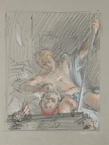 """""""Study for 'David and Goliath'"""", ca. 1964"""