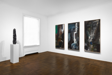 PER KIRKEBY, Paintings and Bronzes from the 1980s, New York, 2018, Installation Image 5