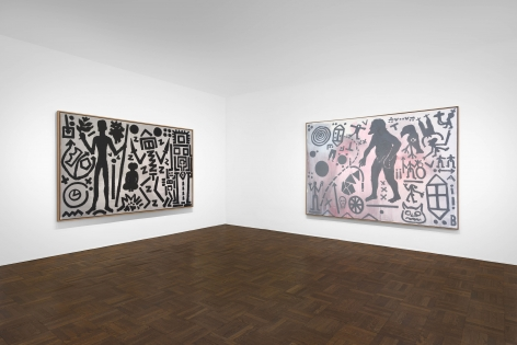A.R. PENCK, Paintings from the 1980s and Memorial to an Unknown East German Soldier, New York, 2018, Installation Image 1