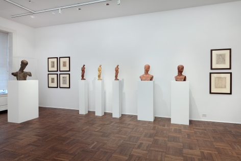 WILHELM LEHMBRUCK, Sculptures and Etchings, New York, 2012, Installation Image 8