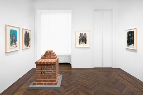 PER KIRKEBY Works on Paper, Works in Brick 20 November 2019 through 25 January 2020 UPPER EAST SIDE, NEW YORK, Installation View 14