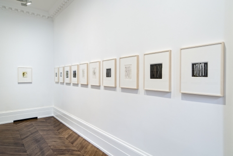 Sigmar Polke, Early Works on Paper, London, 2015, Installation Image 13