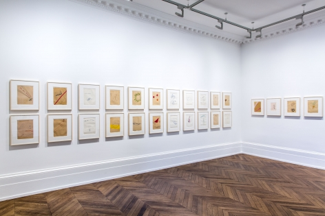 Sigmar Polke, Early Works on Paper, London, 2015, Installation Image 2