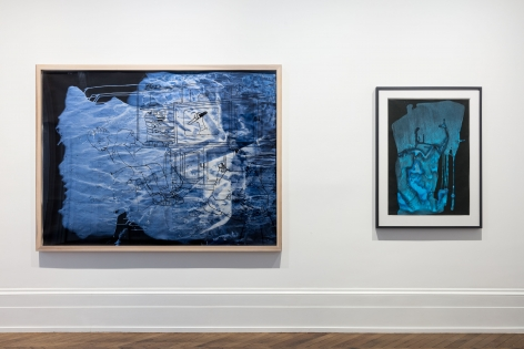 Sigmar Polke, Pour Paintings on Paper, London, 2017, Installation Image 1