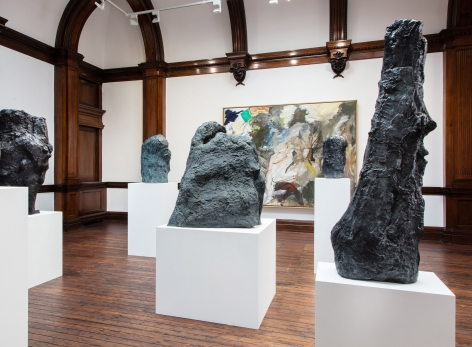 Per Kirkeby, Paintings and Bronzes from the 1980s, London, 2017, Installation Image 13