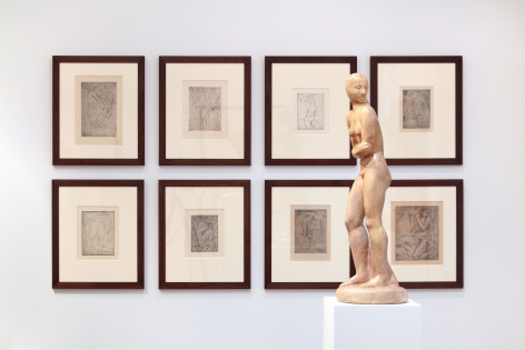 WILHELM LEHMBRUCK, Sculptures and Etchings, New York, 2012, Installation Image 6