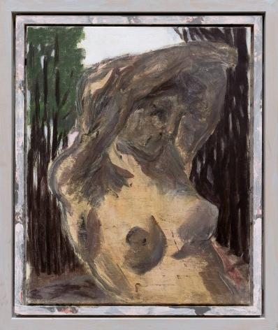 """Im Sonnenlicht (In the Sunlight)"", 2017, Mixed media on canvas in artist's frame"