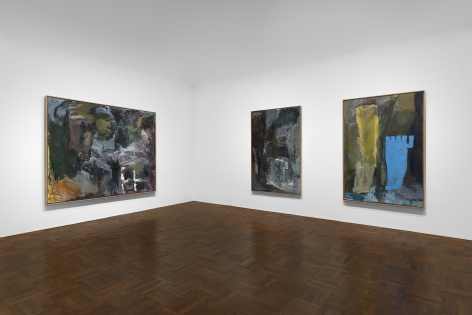 PER KIRKEBY, Paintings and Bronzes from the 1980s, New York, 2018, Installation Image 1