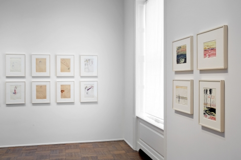 Sigmar Polke, Early Works on Paper, New York, 2014, Installation Image 5