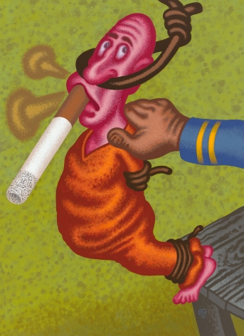 """The Last Smoke"", 2021, Acrylic on canvas"