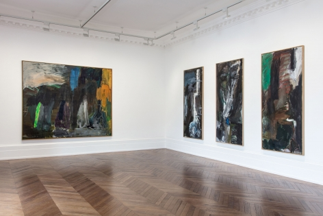 Per Kirkeby, Paintings and Bronzes from the 1980s, London, 2017, Installation Image 7