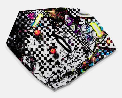 """""""Brickobrackattack"""", 2016 Acrylic gouache on canvas"""