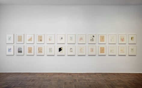 Sigmar Polke, Early Works on Paper, New York, 2014, Installation Image 8