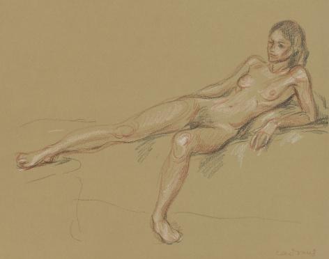 """Untitled (Reclining female nude)"", ca. 1970-1979"