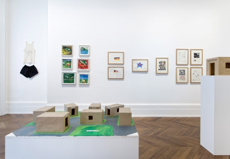 JÖRG IMMENDORFF LIDL Works and Performances from the 60s and Late Paintings after Hogarth 12 May through 2 July 2016 MAYFAIR, LONDON, Installation View 3