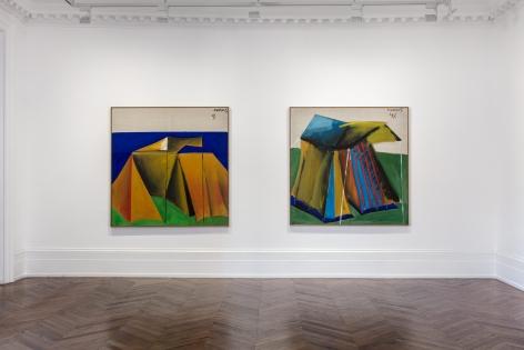 MARKUS LÜPERTZ, Tent Paintings, 1965, London, 2018, Installation Image 5