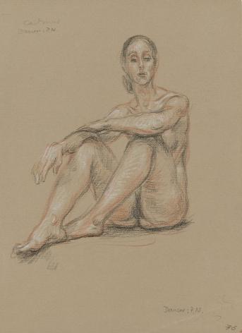 """Seated Nude Dancer"", ca. 1970-1979"