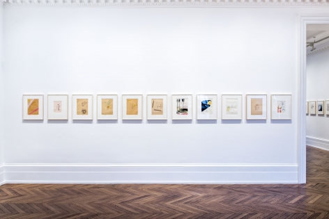 Sigmar Polke, Early Works on Paper, London, 2015, Installation Image 4