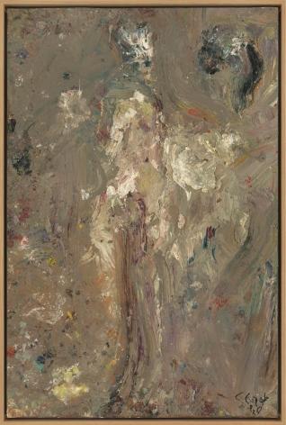 """Eugène Leroy, """"Nu (Nude)"""", 1989"""