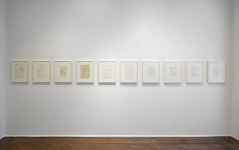 Sigmar Polke, Early Works on Paper, New York, 2014, Installation Image 12