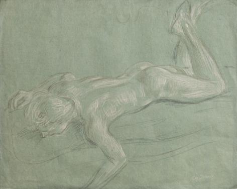 """Reclining Nude Study"", ca. 1967"