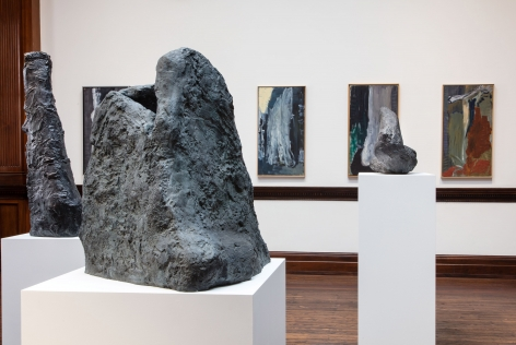 Per Kirkeby, Paintings and Bronzes from the 1980s, London, 2017, Installation Image 10