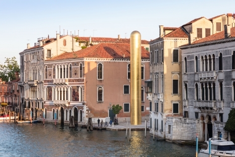 James Lee Byars, The Golden Tower, Campo San Vio, Venice, 2017, Installation Image 11
