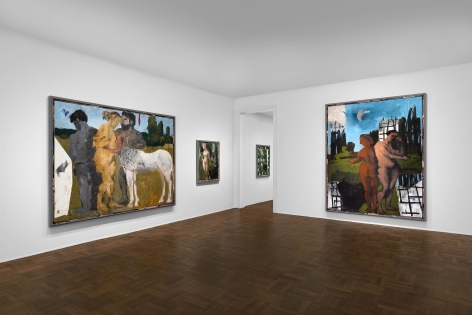 Markus Lüpertz, New Paintings, New York, 2017, Installation Image 8