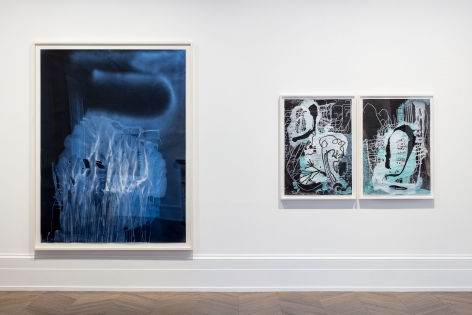 Sigmar Polke, Pour Paintings on Paper, London, 2017, Installation Image 5