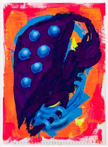 """""""BSF"""", 2014 Acrylic gouache, ink on paper"""
