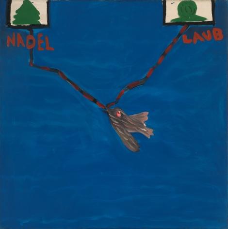 """Needle-Limb"", 1965 Dispersion on canvas"