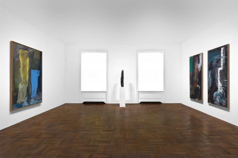 PER KIRKEBY, Paintings and Bronzes from the 1980s, New York, 2018, Installation Image 4