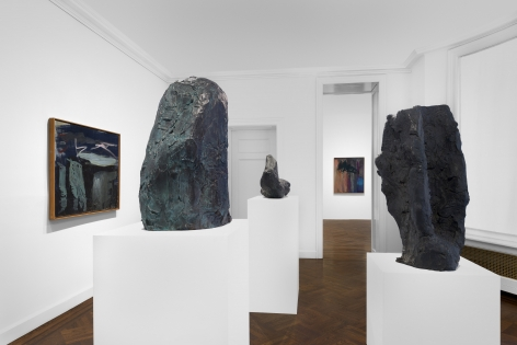 PER KIRKEBY, Paintings and Bronzes from the 1980s, New York, 2018, Installation Image 16