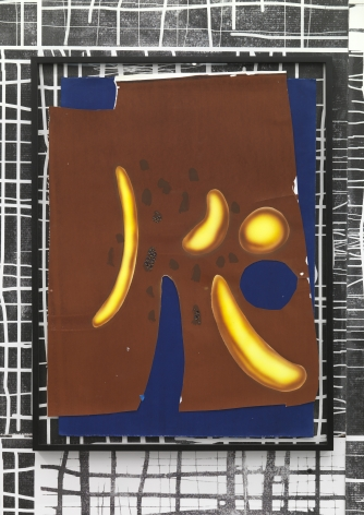 """""""Untitled"""", 2010 Mixed media on paper in artist's frame"""