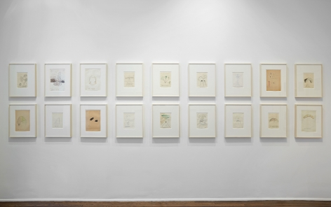 Sigmar Polke, Early Works on Paper, New York, 2014, Installation Image 13