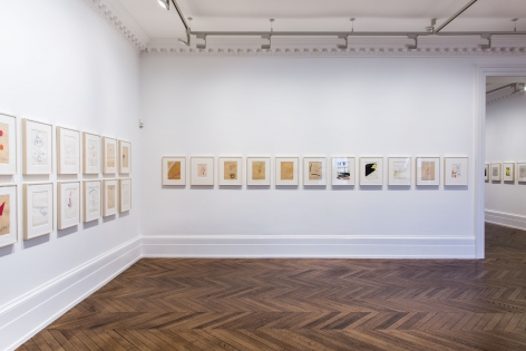 Sigmar Polke, Early Works on Paper, London, 2015, Installation Image 5