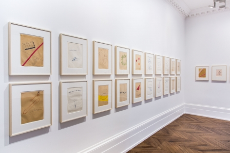 Sigmar Polke, Early Works on Paper, London, 2015, Installation Image 3
