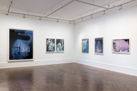 Sigmar Polke, Pour Paintings on Paper, London, 2017, Installation Image 4