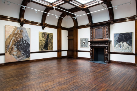 JÖRG IMMENDORFF LIDL Works and Performances from the 60s and Late Paintings after Hogarth 12 May through 2 July 2016 MAYFAIR, LONDON, Installation View 10